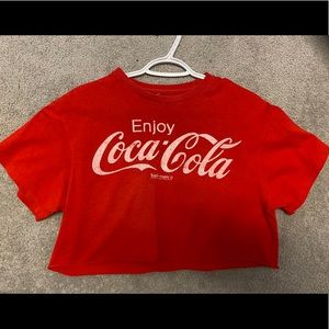Tops - Urban outfitters Coca-Cola crop shirt